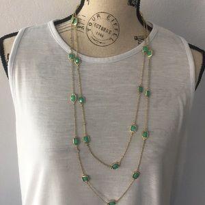Women's 33 in Long Fashion Necklace Gold Sea Foam